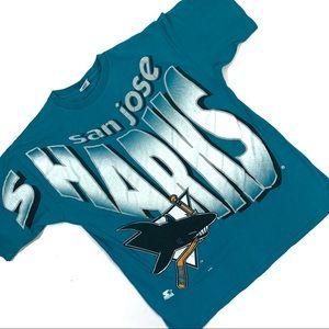 Vintage 90s San Jose Sharks Starter T-Shirt